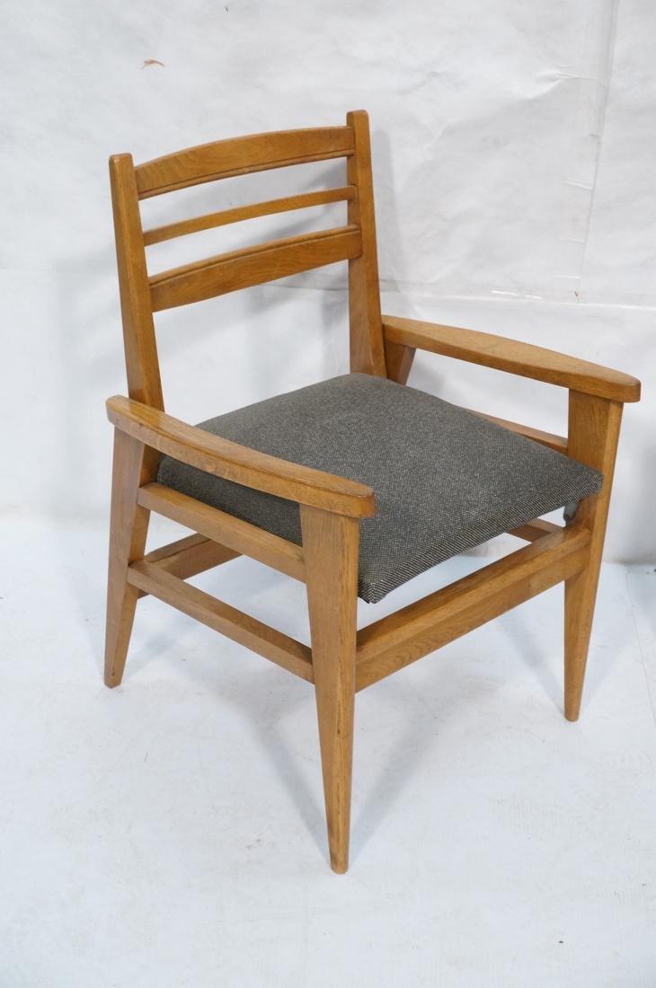 2 Modernist Oak Adjustable Side Lounge Chairs. Ad - 2