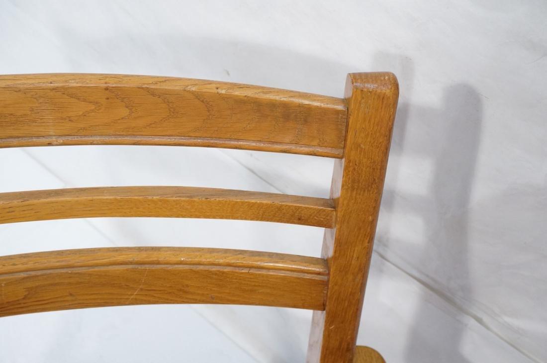 2 Modernist Oak Adjustable Side Lounge Chairs. Ad - 4