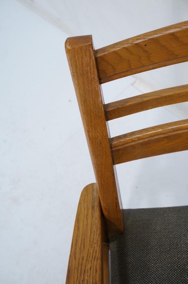 2 Modernist Oak Adjustable Side Lounge Chairs. Ad - 5