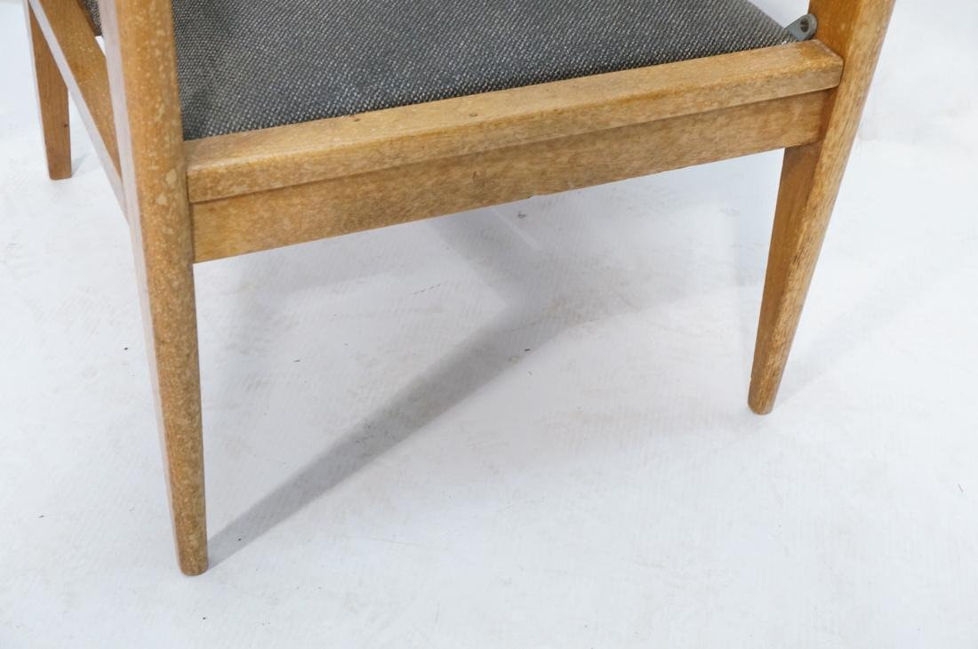 2 Modernist Oak Adjustable Side Lounge Chairs. Ad - 7