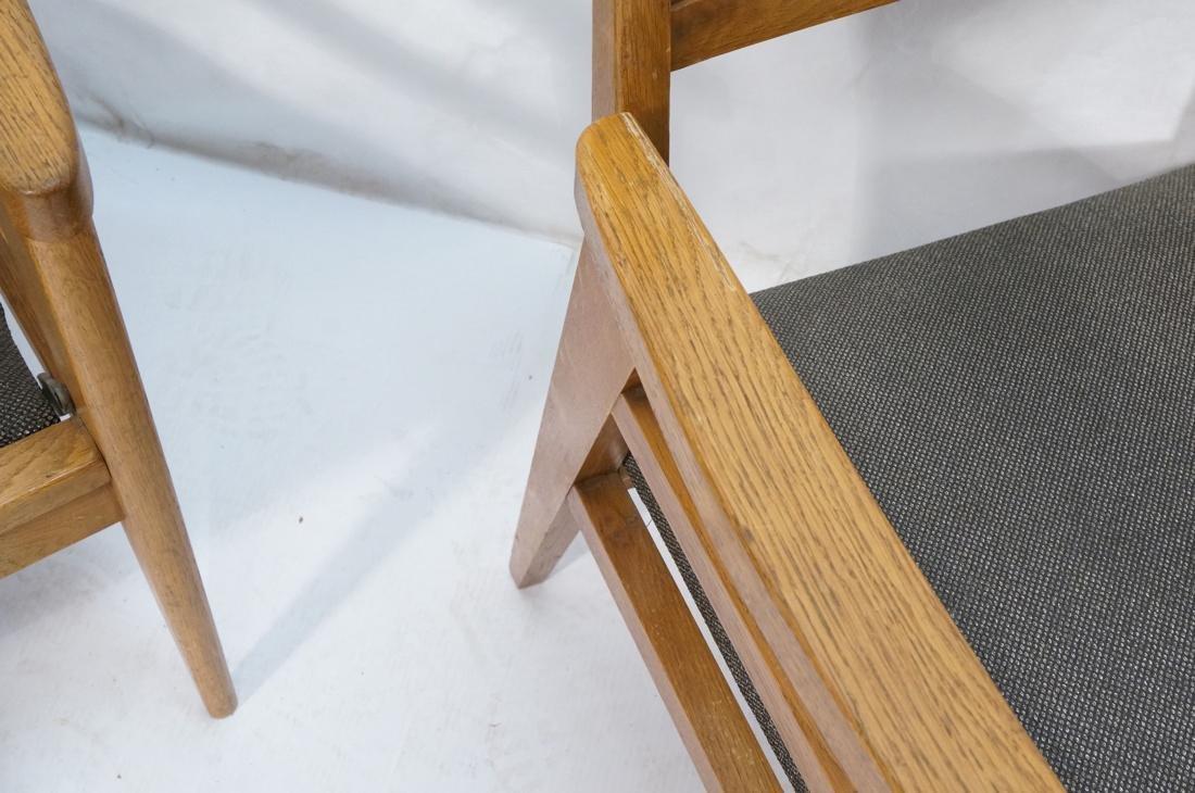 2 Modernist Oak Adjustable Side Lounge Chairs. Ad - 8