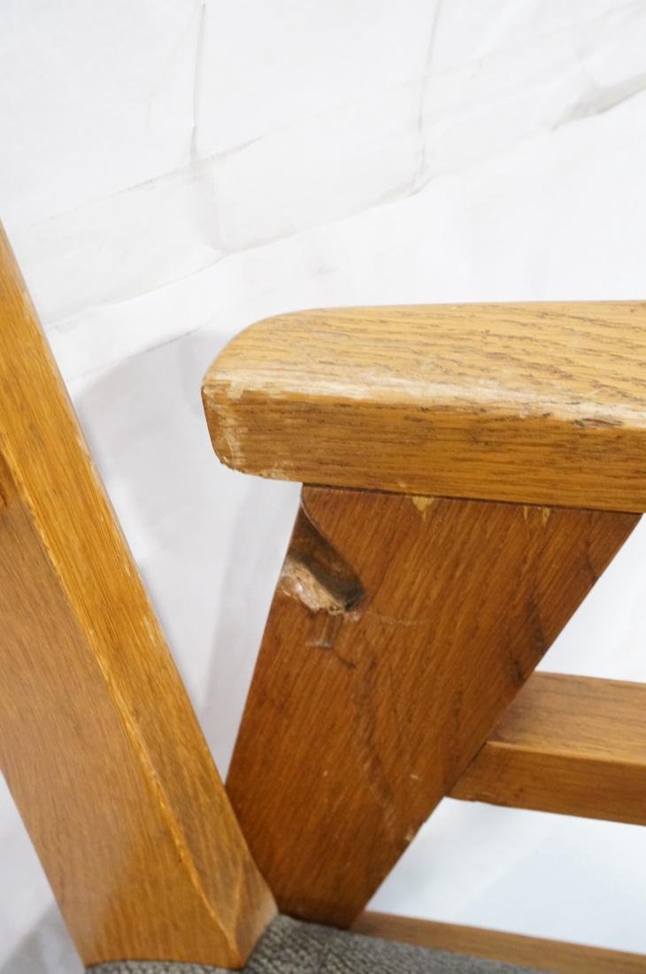 2 Modernist Oak Adjustable Side Lounge Chairs. Ad - 9