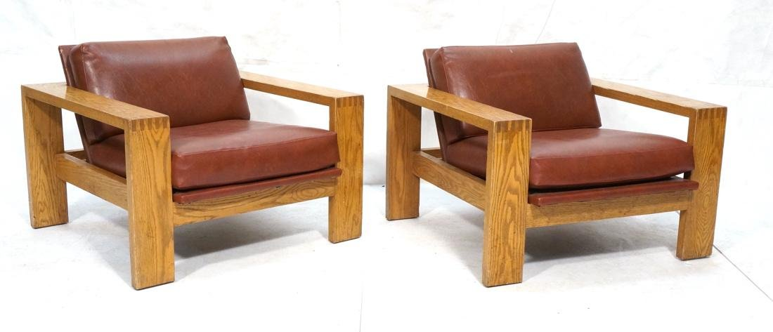 Mission Arts and Crafts Oak Lounge Chairs. Frankl style