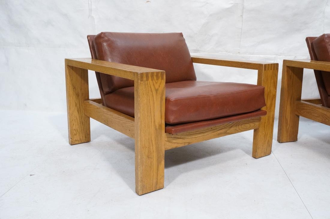 Mission Arts and Crafts Oak Lounge Chairs. Frankl style - 2