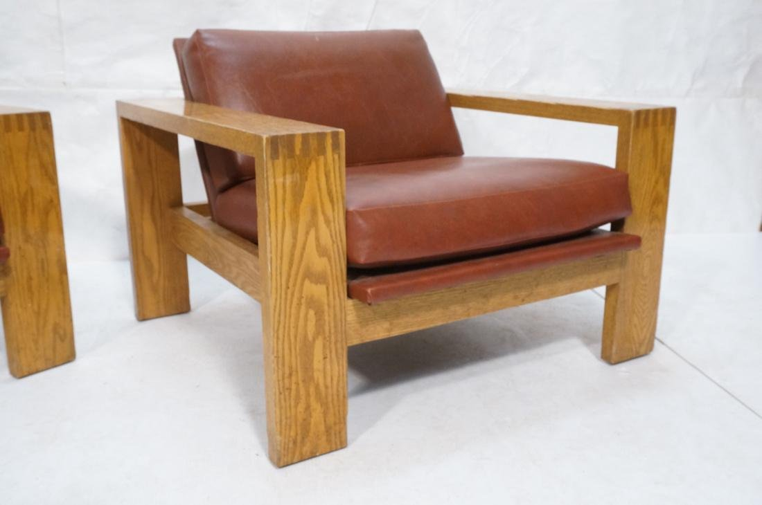 Mission Arts and Crafts Oak Lounge Chairs. Frankl style - 3