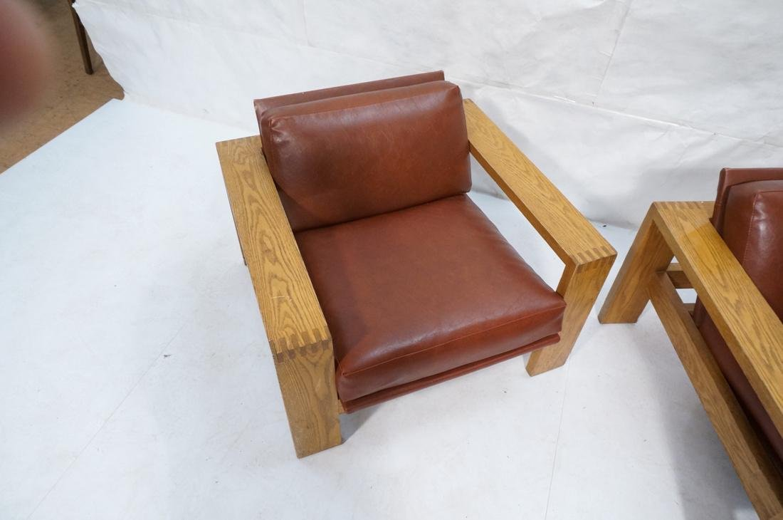 Mission Arts and Crafts Oak Lounge Chairs. Frankl style - 4