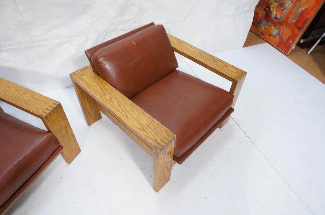 Mission Arts and Crafts Oak Lounge Chairs. Frankl style - 5