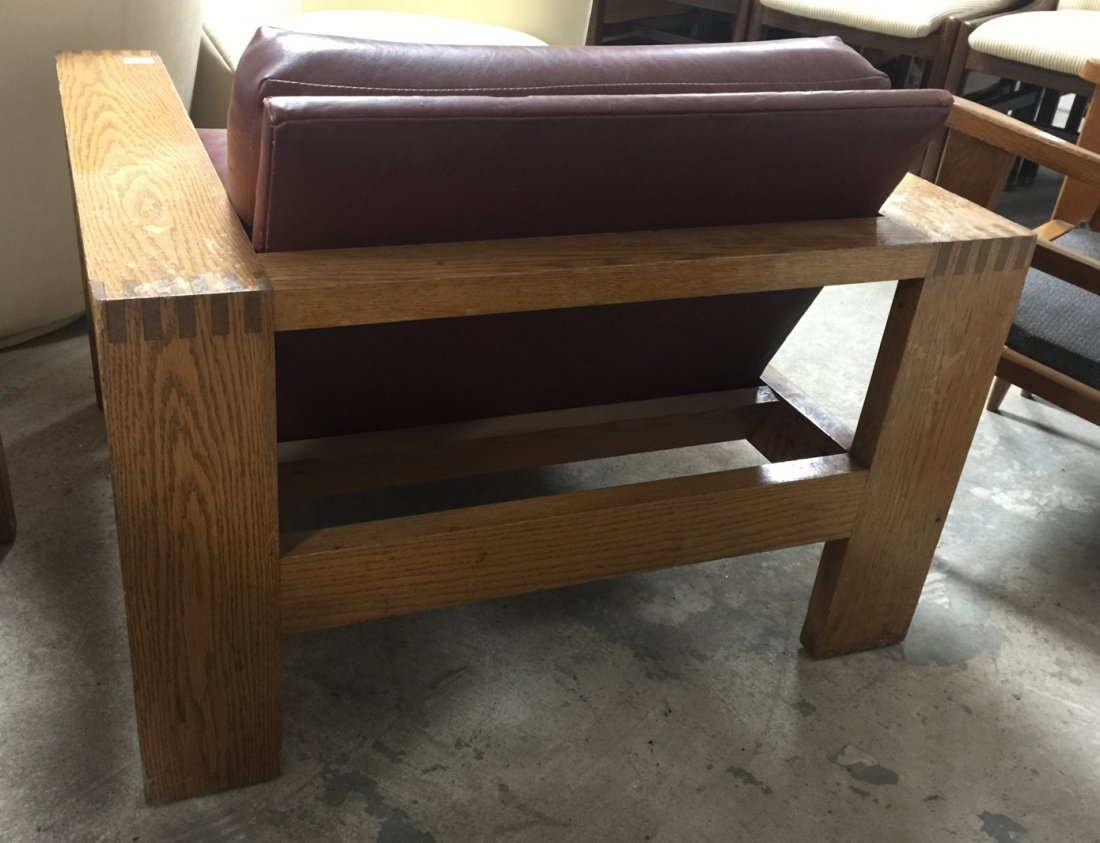 Mission Arts and Crafts Oak Lounge Chairs. Frankl style - 8