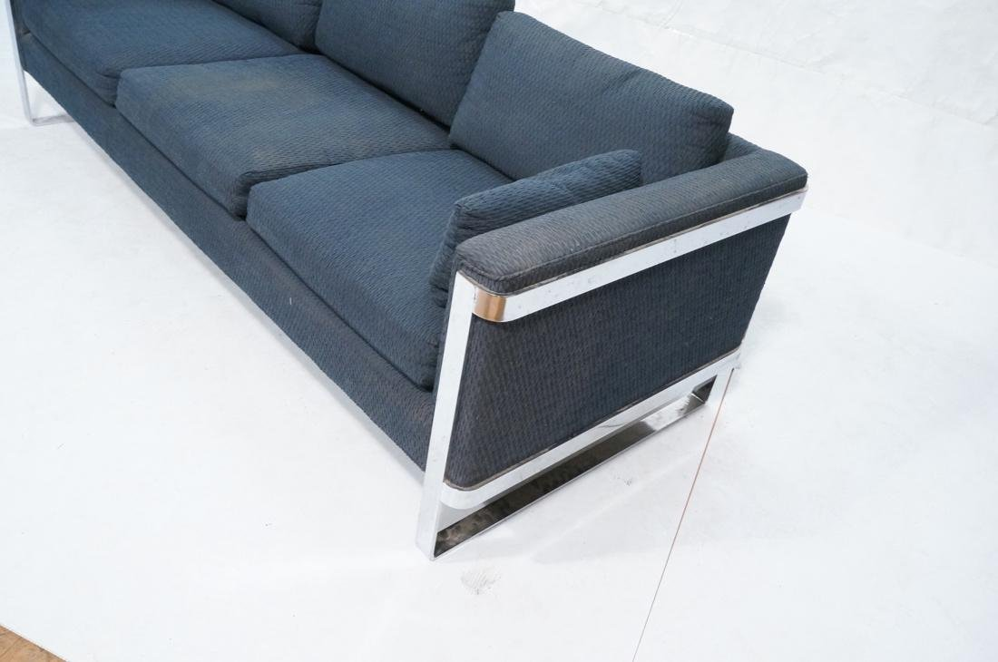 In the Manner of MILO BAUGHMAN Chrome Sofa Couch. - 2