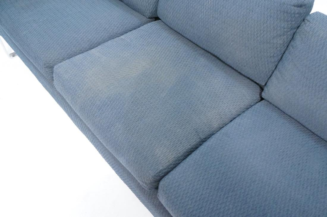 In the Manner of MILO BAUGHMAN Chrome Sofa Couch. - 4