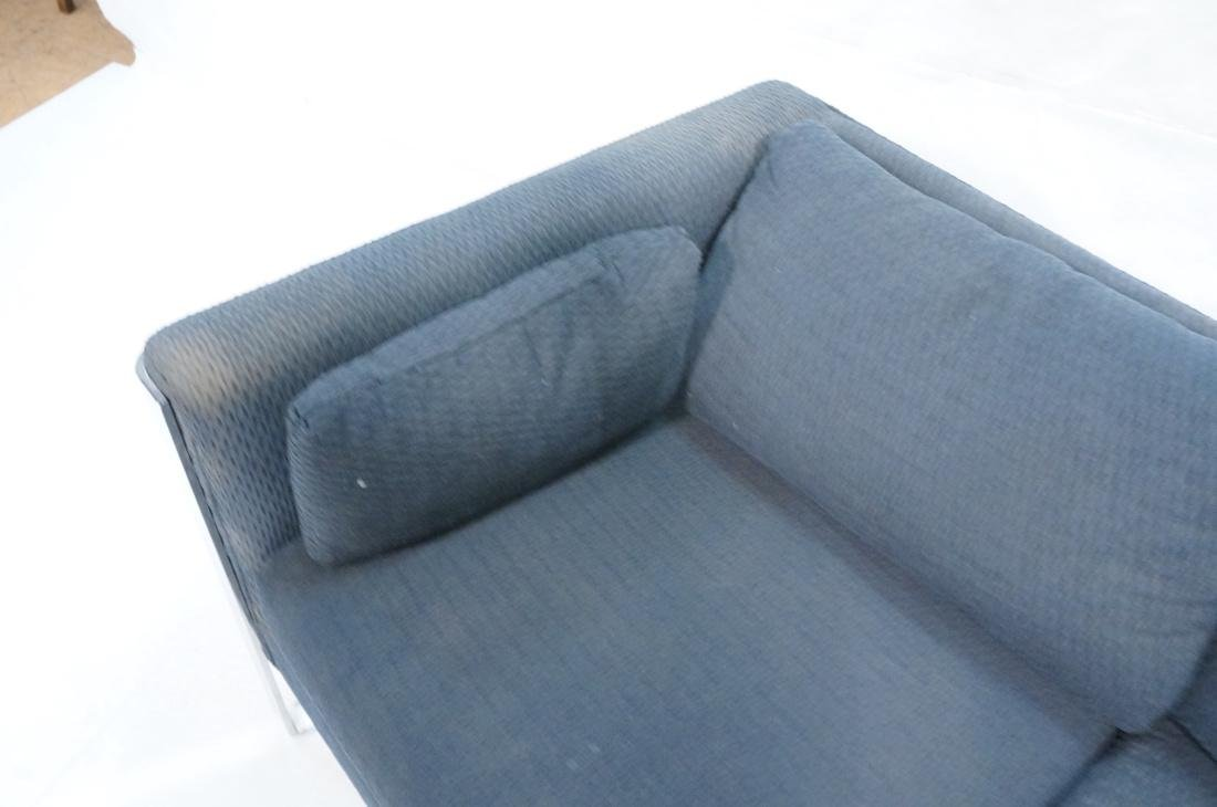 In the Manner of MILO BAUGHMAN Chrome Sofa Couch. - 5