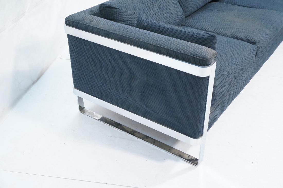 In the Manner of MILO BAUGHMAN Chrome Sofa Couch. - 6