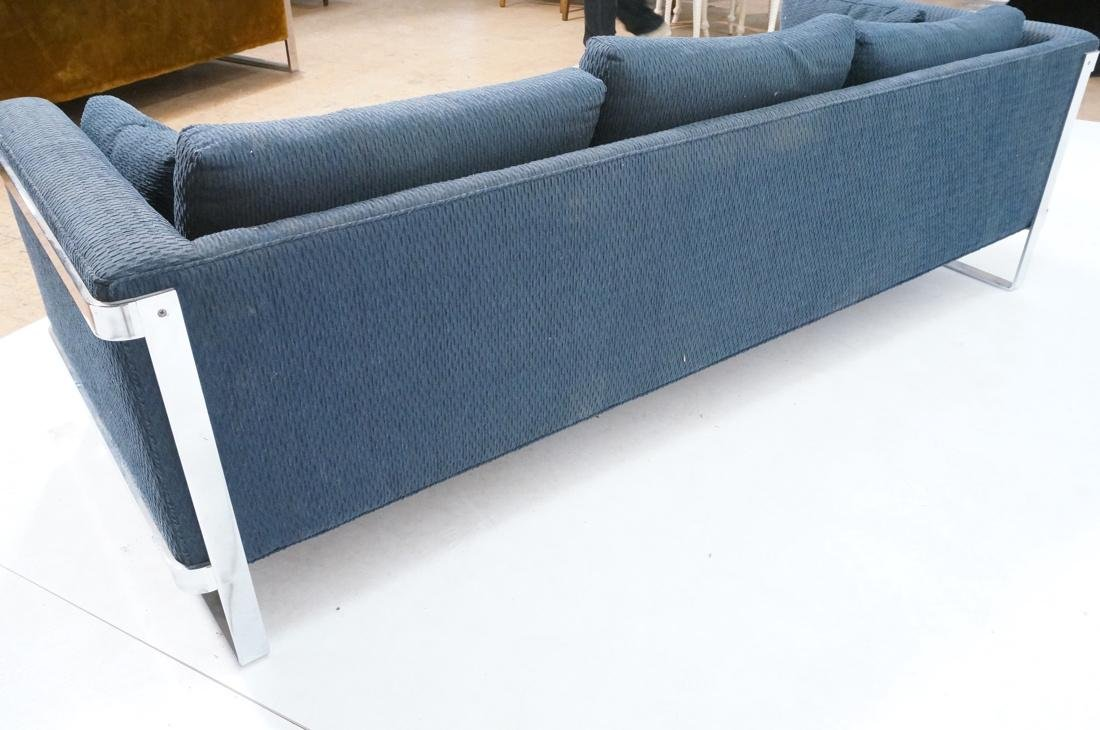In the Manner of MILO BAUGHMAN Chrome Sofa Couch. - 7