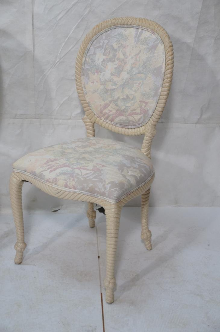 Set of 4 Decorator Rope Designed Dining Chairs. T - 2