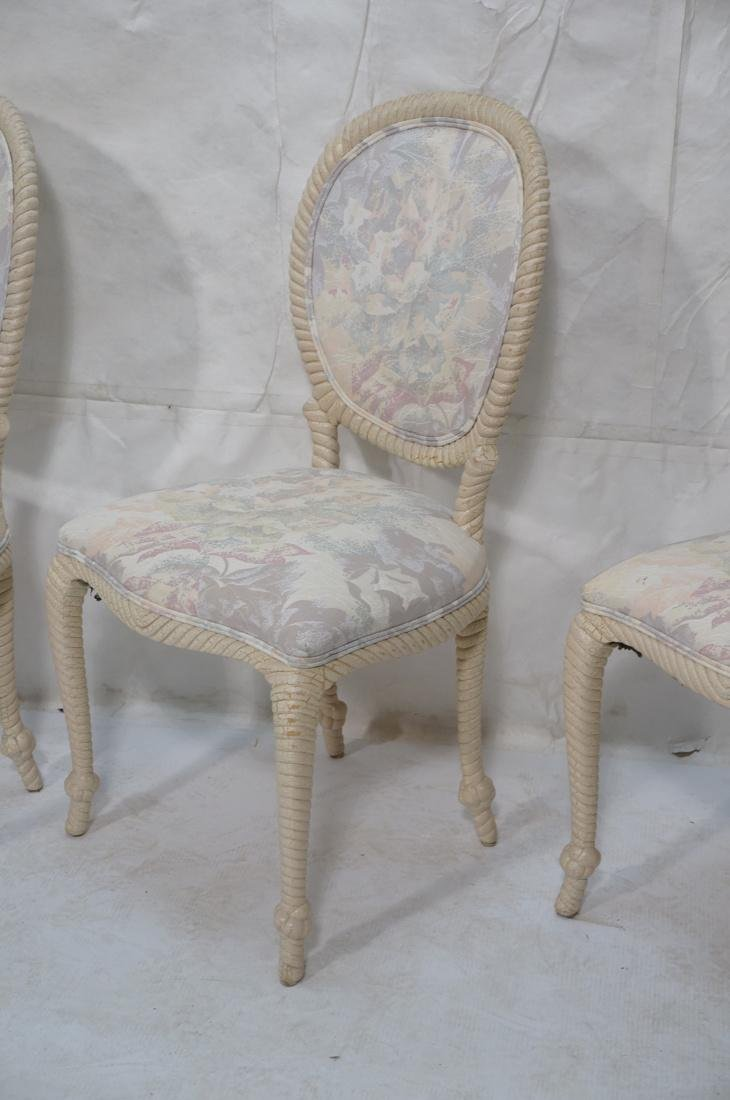 Set of 4 Decorator Rope Designed Dining Chairs. T - 3