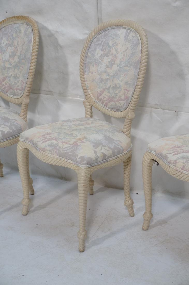 Set of 4 Decorator Rope Designed Dining Chairs. T - 4