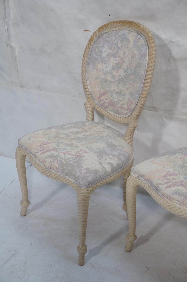 Set of 4 Decorator Rope Designed Dining Chairs. T - 5