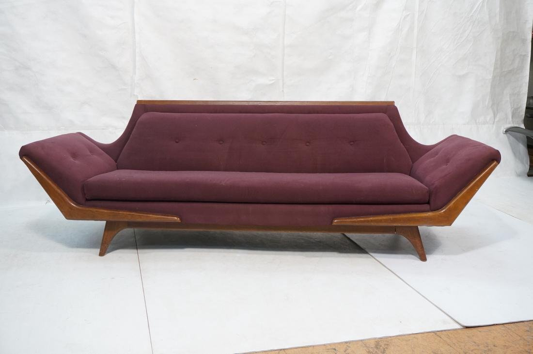 ADRIAN PEARSALL Modernist Walnut Sofa Couch. Styl - 2