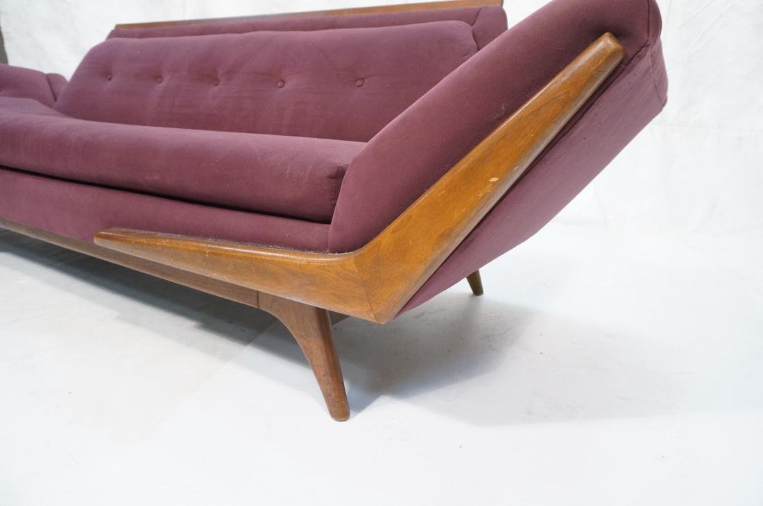 ADRIAN PEARSALL Modernist Walnut Sofa Couch. Styl - 6