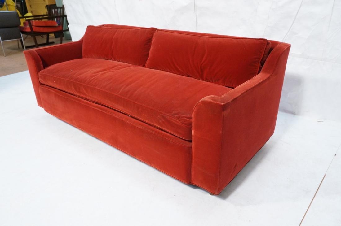 Art Deco Style Red Velvet Sofa Love Seat. Complet - 2
