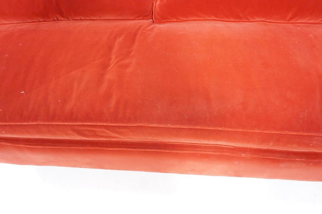 Art Deco Style Red Velvet Sofa Love Seat. Complet - 4