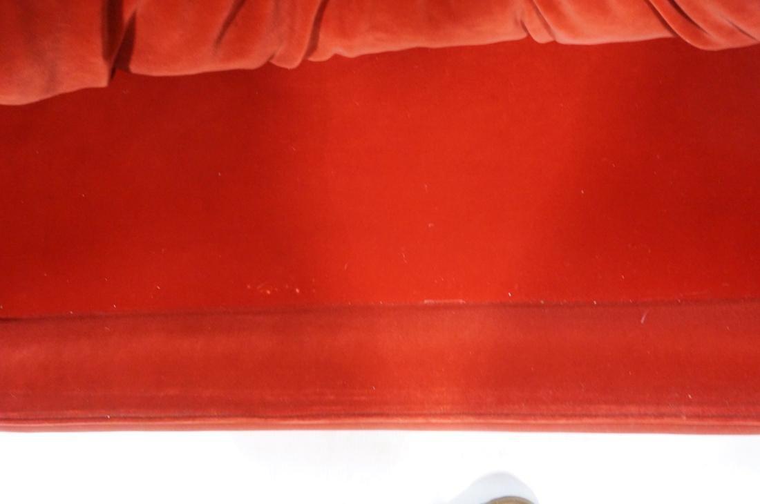 Art Deco Style Red Velvet Sofa Love Seat. Complet - 5