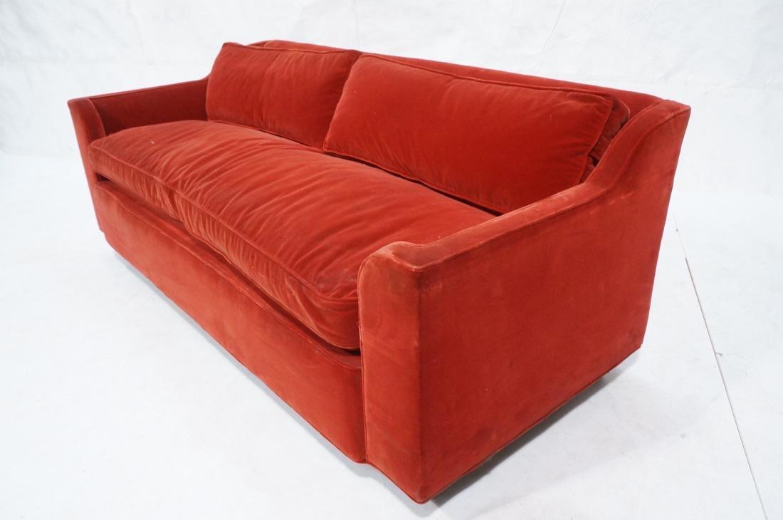 Art Deco Style Red Velvet Sofa Love Seat. Complet - 6
