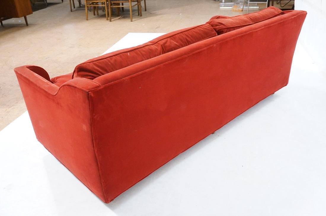 Art Deco Style Red Velvet Sofa Love Seat. Complet - 7
