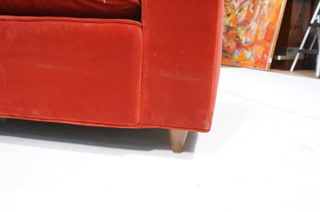 Art Deco Style Red Velvet Sofa Love Seat. Complet - 8