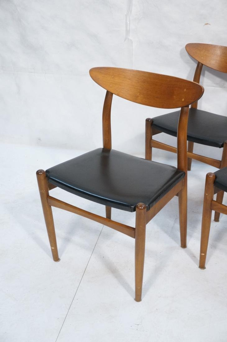 Set of 6 Danish Teak Dining Side Chairs. Curved e - 2