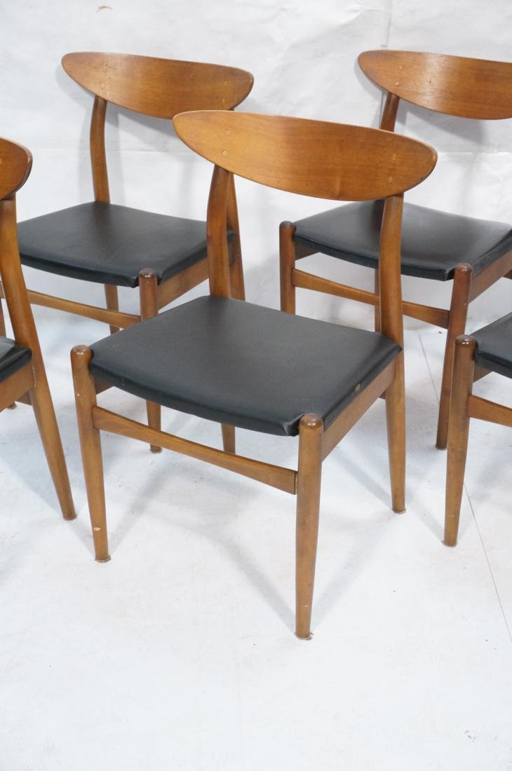Set of 6 Danish Teak Dining Side Chairs. Curved e - 3