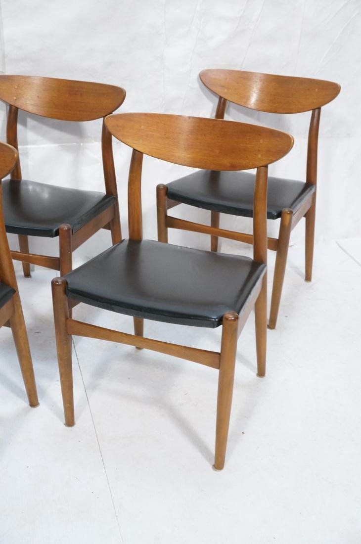 Set of 6 Danish Teak Dining Side Chairs. Curved e - 4