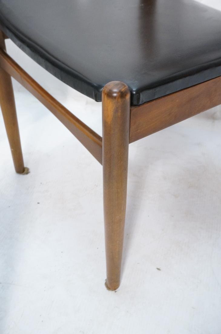 Set of 6 Danish Teak Dining Side Chairs. Curved e - 5