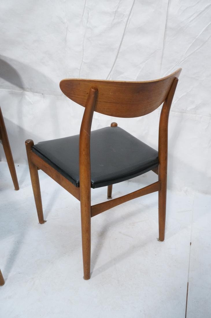Set of 6 Danish Teak Dining Side Chairs. Curved e - 6