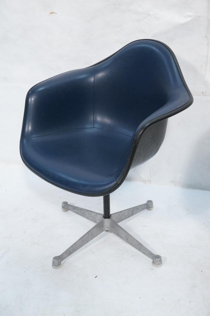 Pr HERMAN MILLER Fiberglass Shell Chairs. Blue se - 3