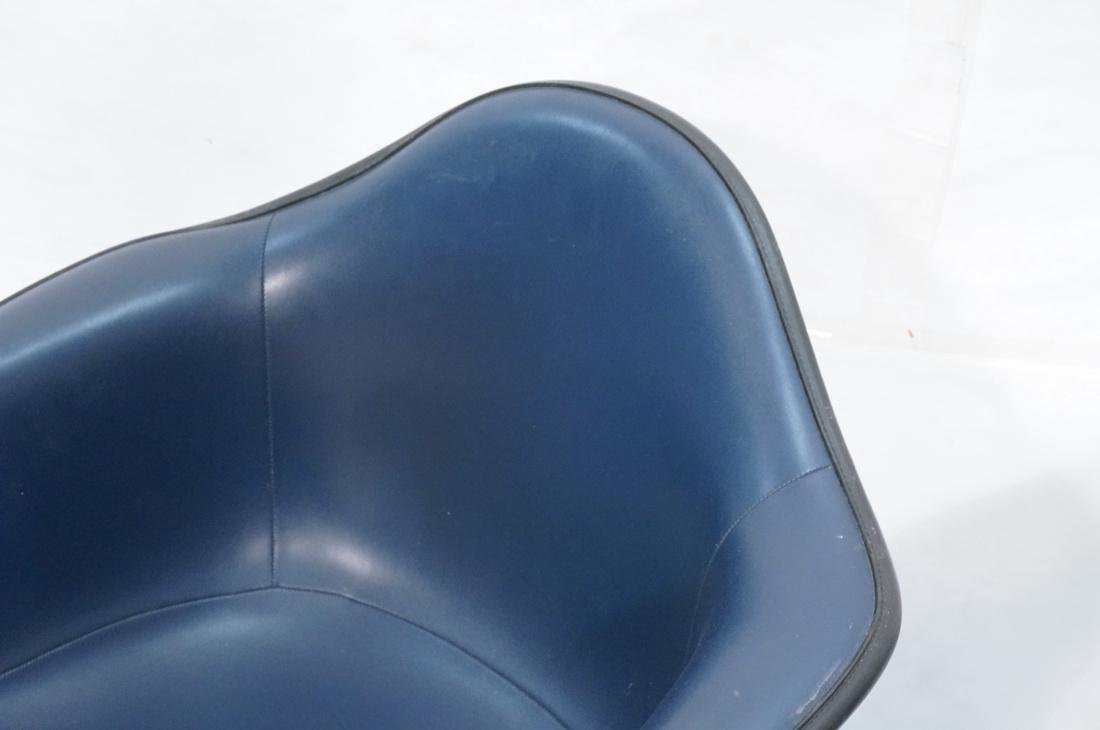 Pr HERMAN MILLER Fiberglass Shell Chairs. Blue se - 4