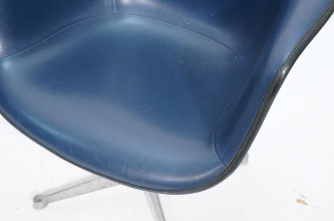 Pr HERMAN MILLER Fiberglass Shell Chairs. Blue se - 6