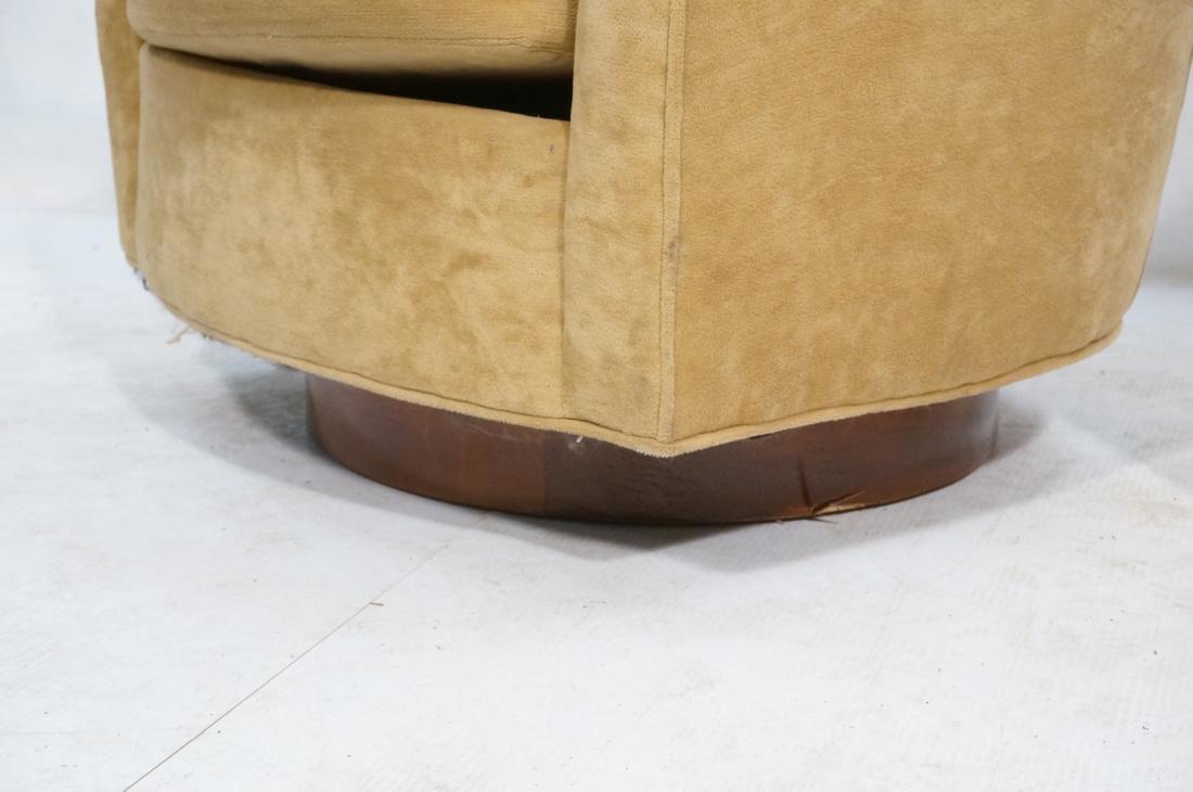 Pr MILO BAUGHMAN Style Swivel Lounge Chairs. Tan - 5