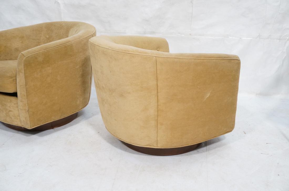 Pr MILO BAUGHMAN Style Swivel Lounge Chairs. Tan - 8