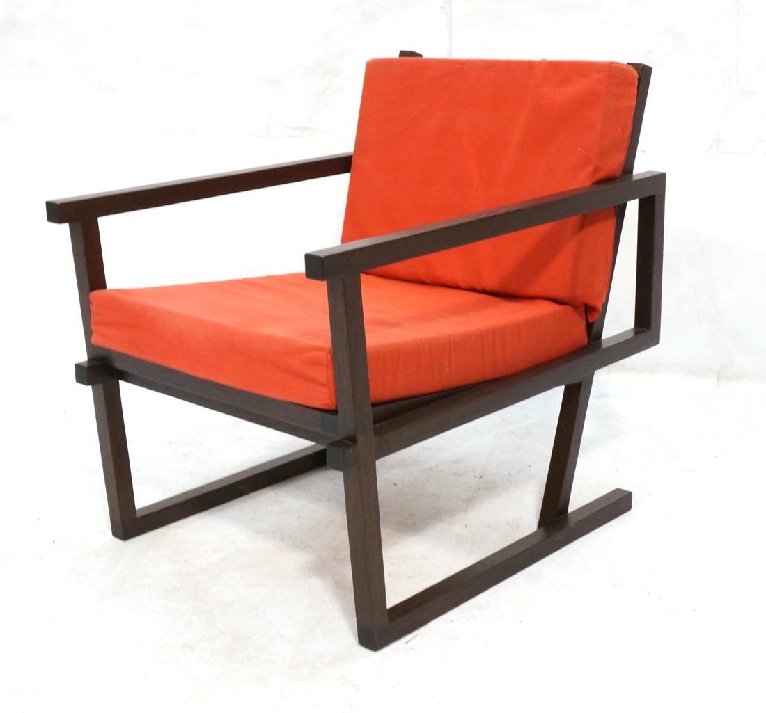 Gerrit Rietveld Style Lounge Chair.  Square dark