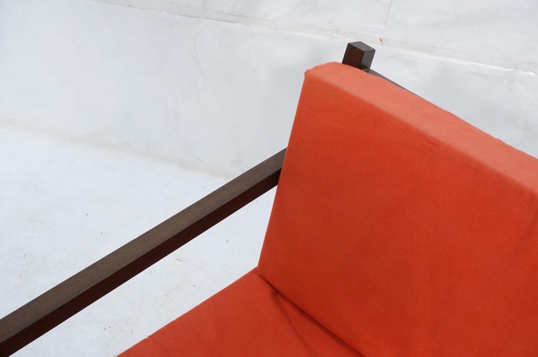 Gerrit Rietveld Style Lounge Chair.  Square dark - 2