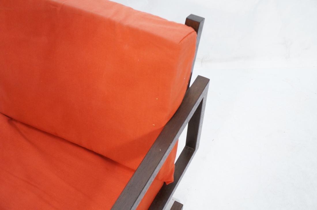 Gerrit Rietveld Style Lounge Chair.  Square dark - 3