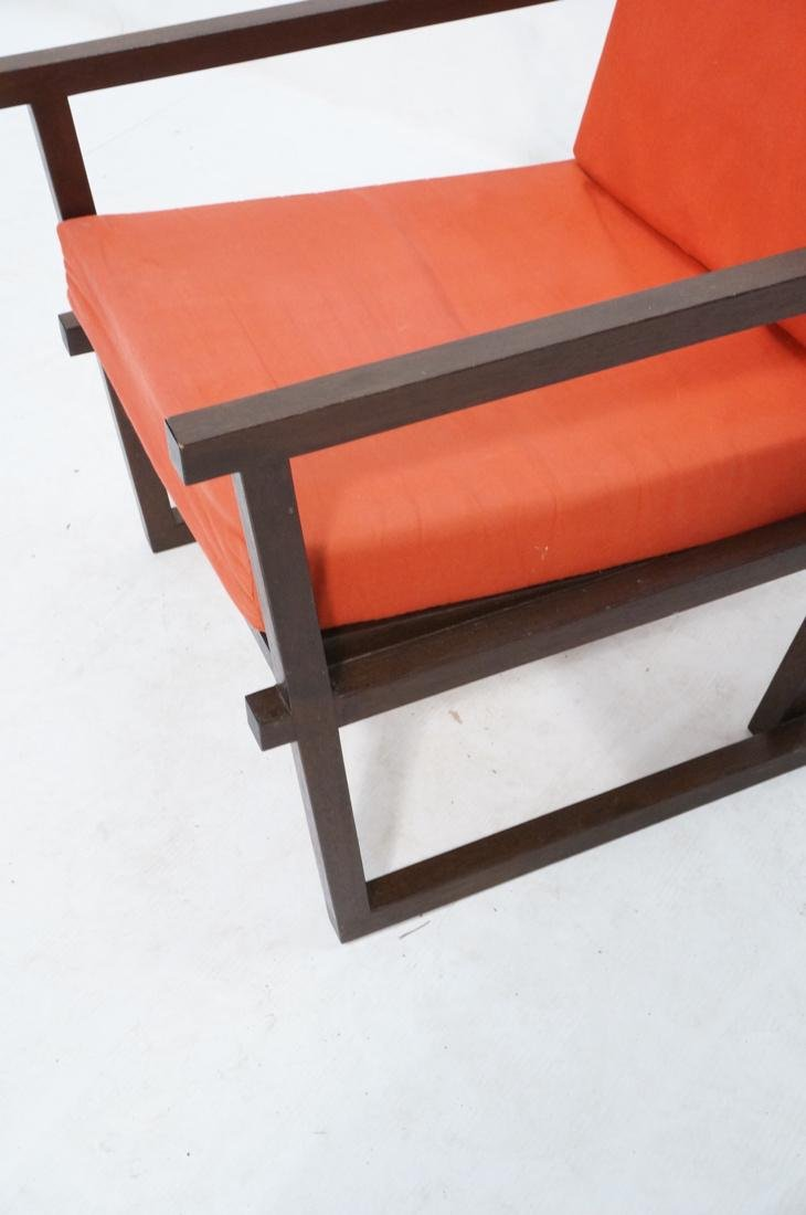 Gerrit Rietveld Style Lounge Chair.  Square dark - 4