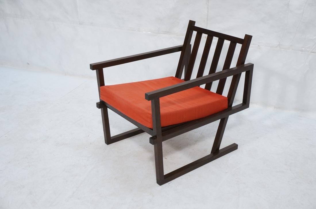 Gerrit Rietveld Style Lounge Chair.  Square dark - 5
