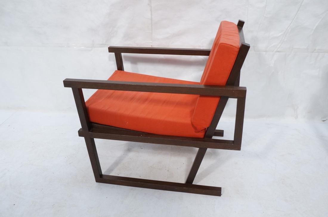 Gerrit Rietveld Style Lounge Chair.  Square dark - 6