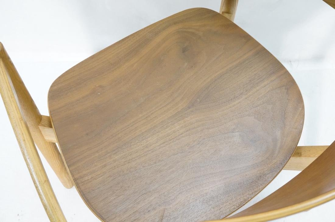 Pr JENS RISOM Blond Wood Arm Side Dining Chairs. - 8