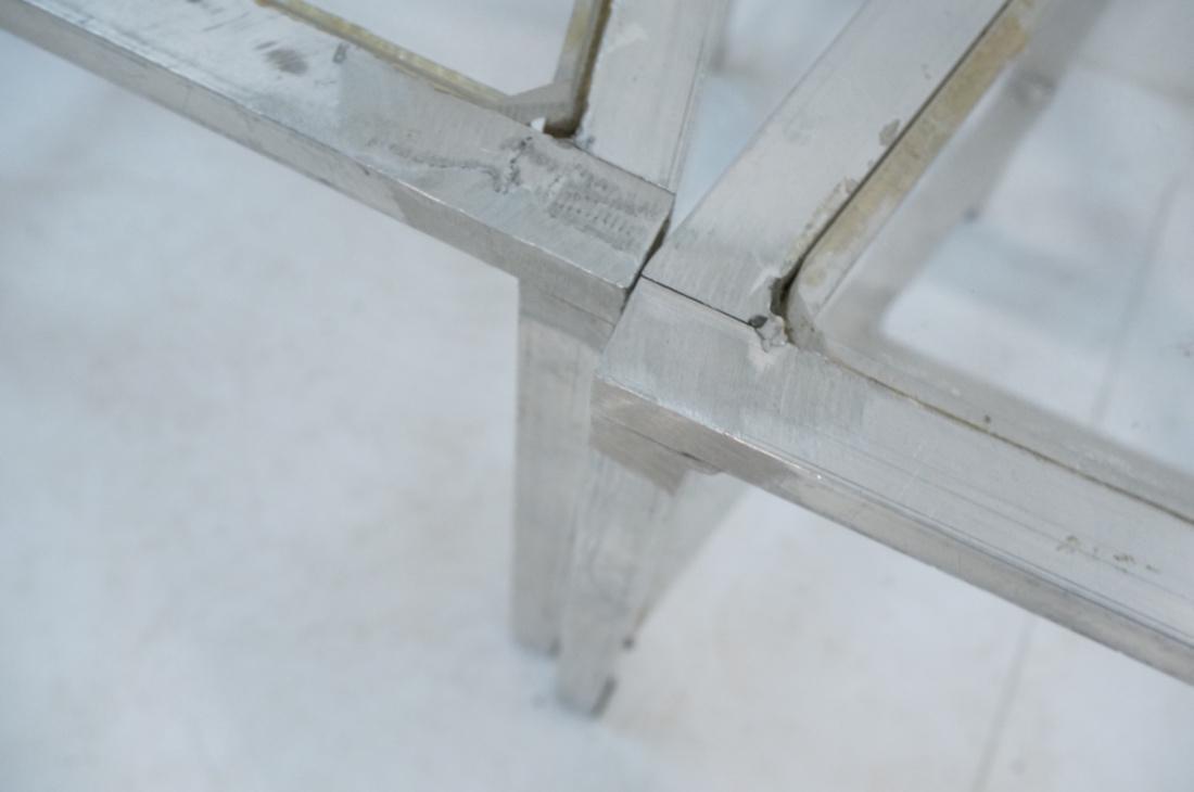 Set of 4 Aluminum Square Tube High Back Chairs. I - 10