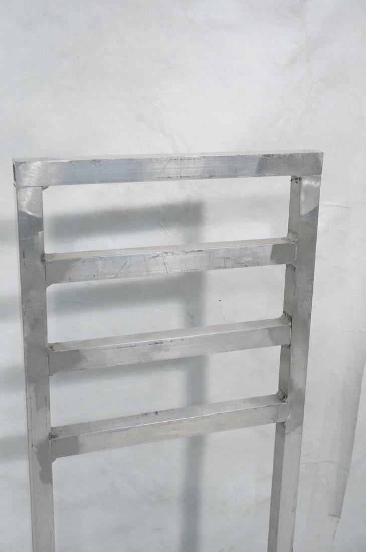Set of 4 Aluminum Square Tube High Back Chairs. I - 5