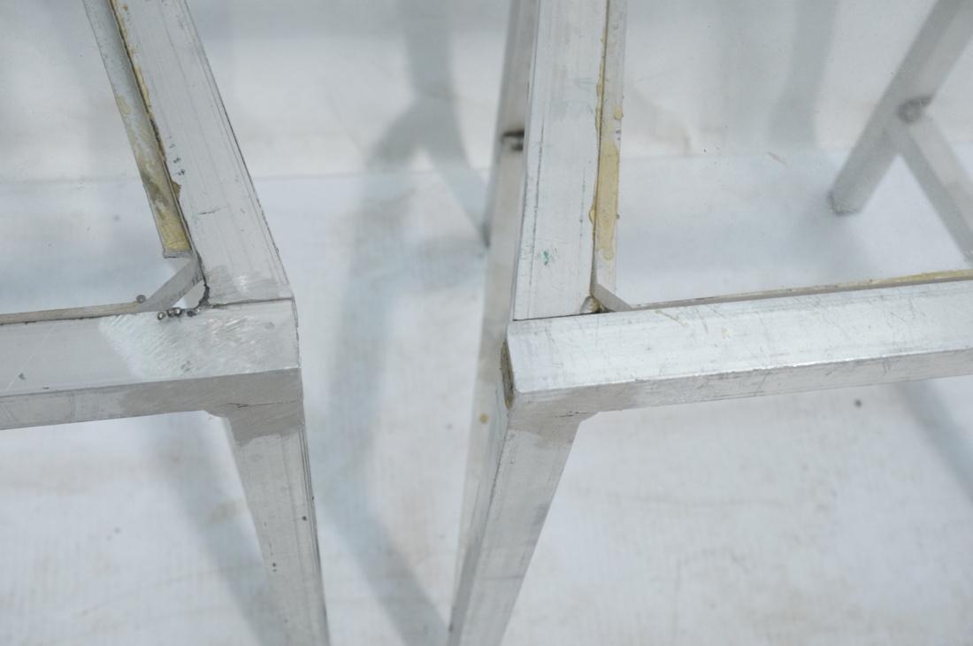 Set of 4 Aluminum Square Tube High Back Chairs. I - 6