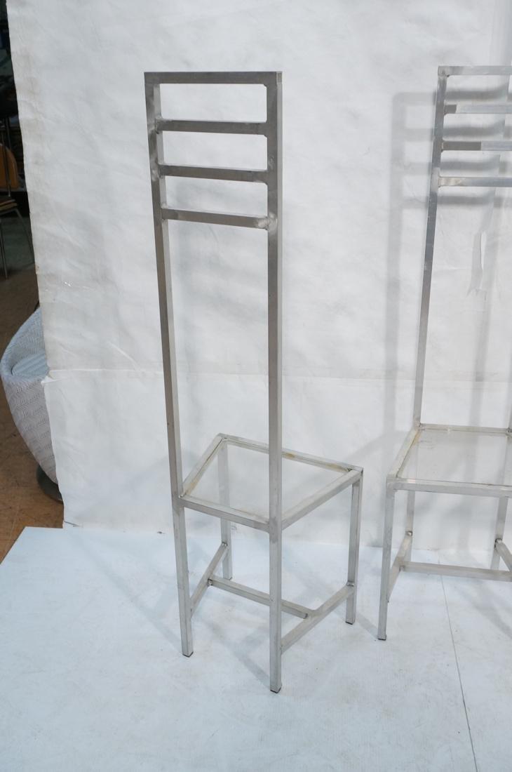 Set of 4 Aluminum Square Tube High Back Chairs. I - 8